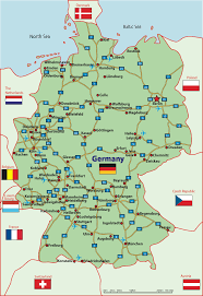 German States Map Download Map Of Germany And Surrounding Areas Major Tourist
