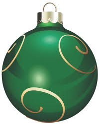 green ornament clipart happy holidays