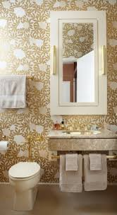 wallpaper for bathrooms white and blue powder room features walls
