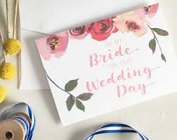 Card From Bride To Groom On Wedding Day Wedding Day Note Card Hello Beautiful To My Bride On Our