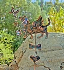 Sheet Metal Garden Art - dachshund metal garden art yard art garden stake copper art