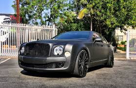 black bentley 2016 matte black bentley mulsanne tuned by rdb