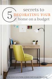 5 secrets to decorating your home on a frugal budget