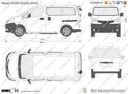 nissan nv200 white the blueprints com vector drawing nissan nv200 vanette
