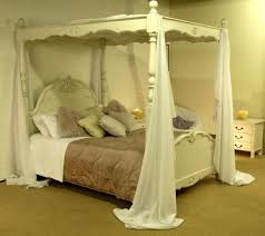 bedroom design white french four poster bed with curtains how