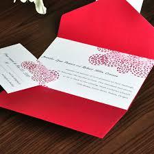 Wedding Invitation Pocket Simple Red Polka Dots Wedding Pocket Invitation Ewpi010 As Low As