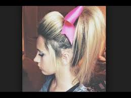 hair with poof on top cheer hair tutorial perfect poof for practice with allie