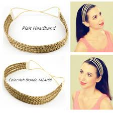 plait headband merrylight synthetic hair braid elastic stretch