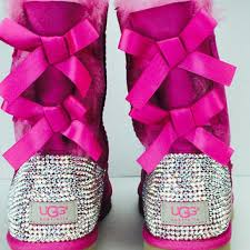womens pink ugg boots with bows best bow ugg boots products on wanelo