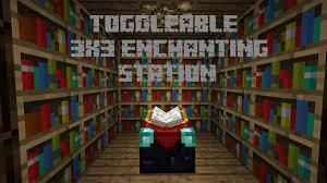 Minecraft Bookshelf Placement Minecraft Enchanting Station 3x3 Toggleable Bookshelf Wall
