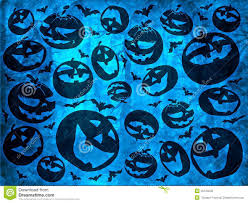 halloween wallpaper pattern happy halloween pumpkins with bats on blue background wallpaper
