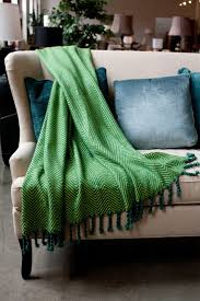 Emerald Green Home Decor by Emerald Green Throw Blanket