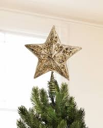 silver and gold beaded star tree toppers balsam hill