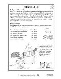 science worksheet 4th grade worksheets