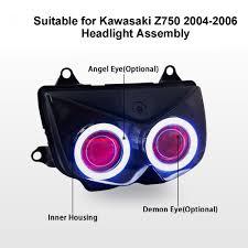 aliexpress com buy kt headlight for kawasaki z750 2004 2006 led