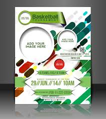 basketball c brochure template basketball flyer template stock vector illustration of basketball