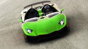 Green Lamborghini Aventador - lamborghini aventador black interior audio zoom in green and