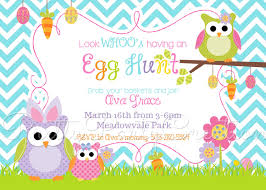 egg hunt party invitations