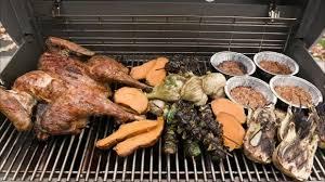 turkey dinner on a grill
