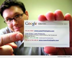 Business Meme - awesome google search business card by ben meme center