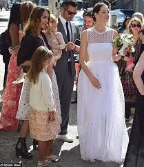 jessica alba dresses up her daughters in dresses for friend u0027s