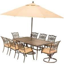 8 9 person umbrella patio dining furniture patio furniture