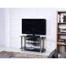 tv stand 57 wide black tempered glass tv stand electric