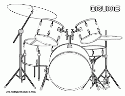 drums coloring page free printable coloring 1041