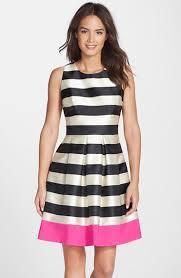 eliza j dresses eliza j stripe crepe fit flare dress available at nordstrom