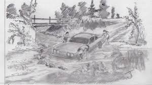 natural sceneries pencil drawings landscape drawings in coloured