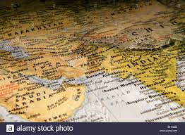 Bombay India Map by Map Of Pakistan India Afghanistan Stock Photo Royalty Free Image