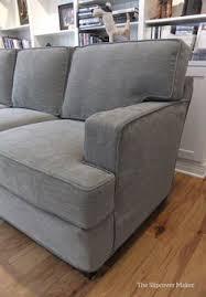 Contemporary Sofa Slipcover Gray Mink Velvet Luxe 3 Seat Sofa Slipcover Sofa Slipcovers