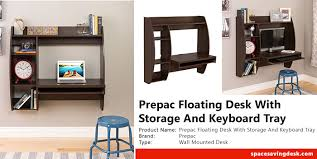 Prepac Floating Desk by Prepac Floating Desk With Storage And Keyboard Tray In Expresso