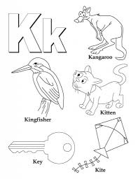 my a to z coloring book letter k coloring page download free my