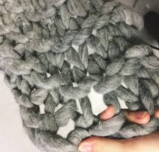 chunky arm knit blanket 68