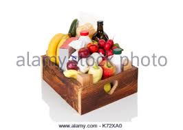 fruits delivery organic fruit box for home delivery service stock photo royalty
