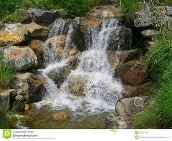 thanksgiving point gardens utah waterfall stock photo image