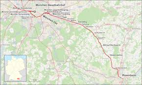 Germany Rail Map by Munich U2013rosenheim Railway Wikipedia
