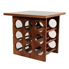 wine rack side table vintage teak wood side table with built in wine rack ebth