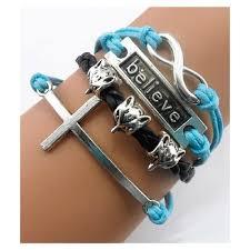 anchor bracelet charms images Handmade heart love anchor wings best friend leaf owls bird sister jpg