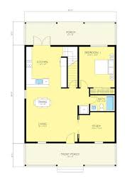 simple but works cottage style house plan 2 beds 2 baths