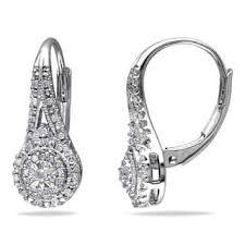 silver diamond earrings sterling silver diamond earrings for less overstock