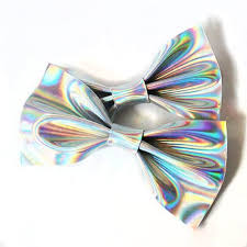 hair bow leather hologram holographic hair bow set hair