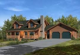 cabin plans with garage gorgeous log cabin home plan with 2 car garage starting at just