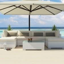White Wicker Outdoor Patio Furniture White Patio Furniture Sets Foter