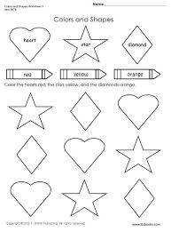 free worksheets shapes coloring pages for preschoolers free