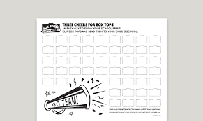 box tops collection sheets boxtops4education