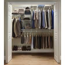 closet organizer home depot closet system with closet maid shelf track 6 ft 8 ft closet