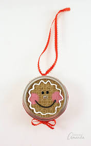 gingerbread canning lid ornament