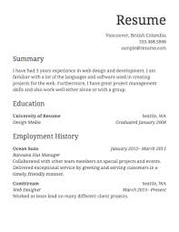 Samples Of Resumes by Basic Sample Resume 19 Impressive Idea Basic Sample Resume 11